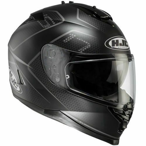 HJC IS-17 Lank Black Full Face Motorcycle Motorbike Helmet XL RRP £179.99