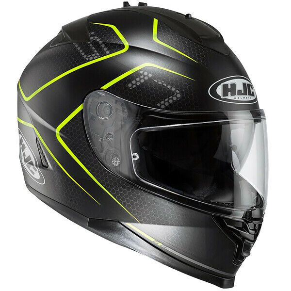HJC IS-17 Lank Black Yellow Full Face Motorcycle Motorbike Helmet Extra Small XS
