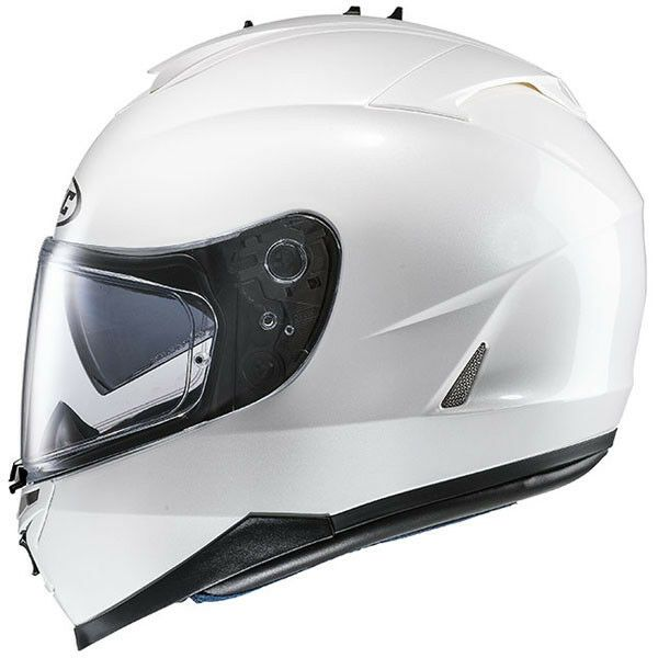 HJC IS-17 Plain Pearl White Full Face Motorcycle Helmet - 2XL Free Pinlock