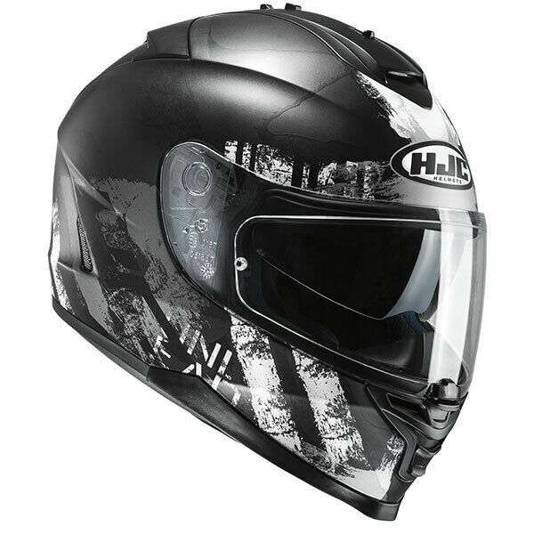 HJC IS-17 Shapy Black White Full Face Motorcycle Motorbike Helmet Extra Large